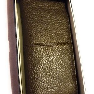 Cole Haan - Breast Pocket Leather Wallet  Chocolat